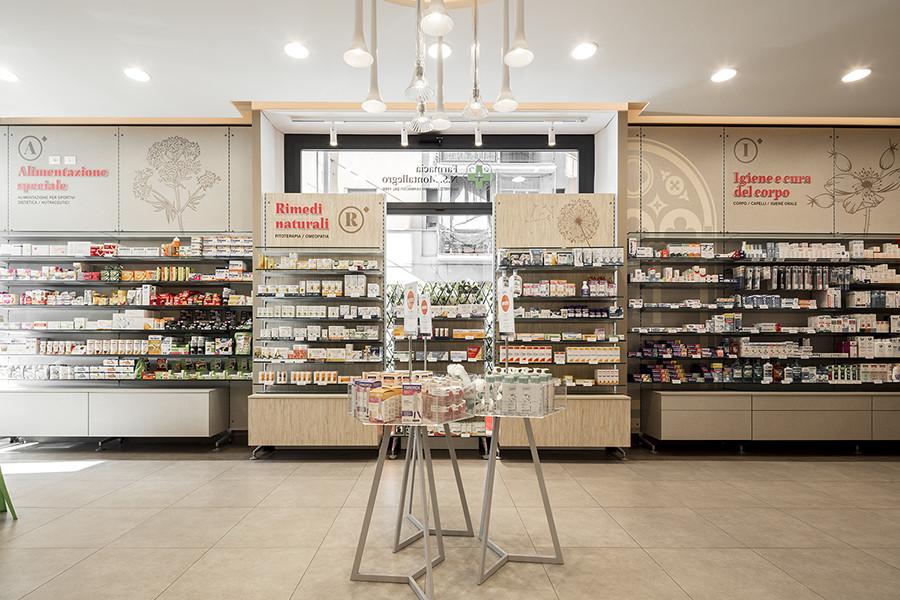 Farmacia N.S. Montallegro, Rapallo (GE) - espositori centrali